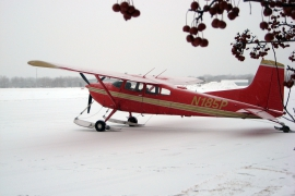 Cessna 185 on C3200 Airglide Skis