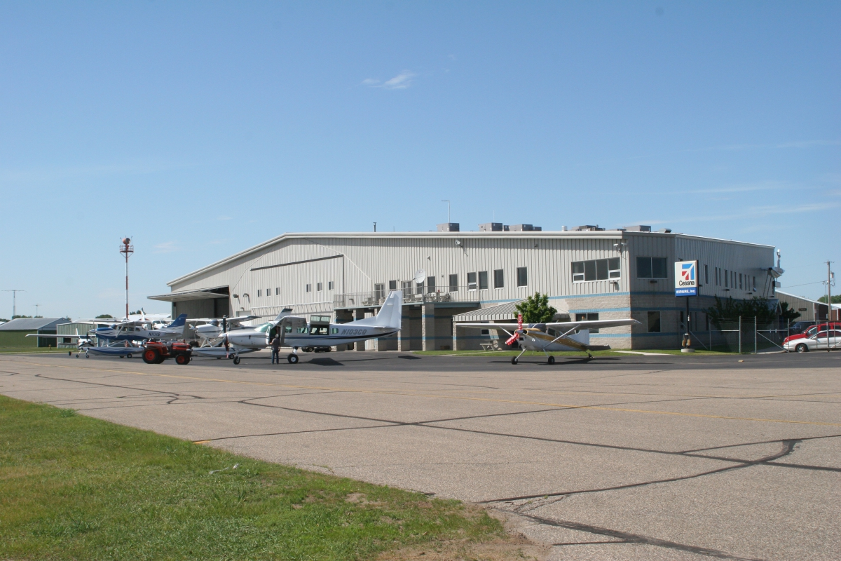 """Wipaire's """"Hangar 1"""" contains our offices, primary maintenance hangar and an R&D hangar."""