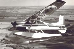 Ben Flying His Skywagon on Wipline Floats