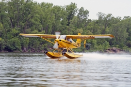 American Champion Scout on Wipline 2100 Floats