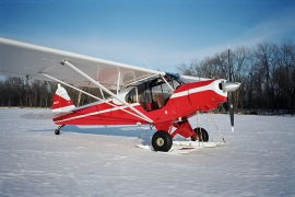 Piper PA-18 on Airglide C2200 Skis
