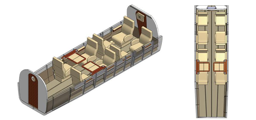 Twin Otter Executive Interior 8 Seat Configuration