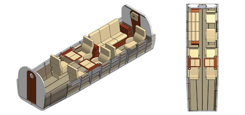 Twin Otter Executive Interior 9 Seat Configuration