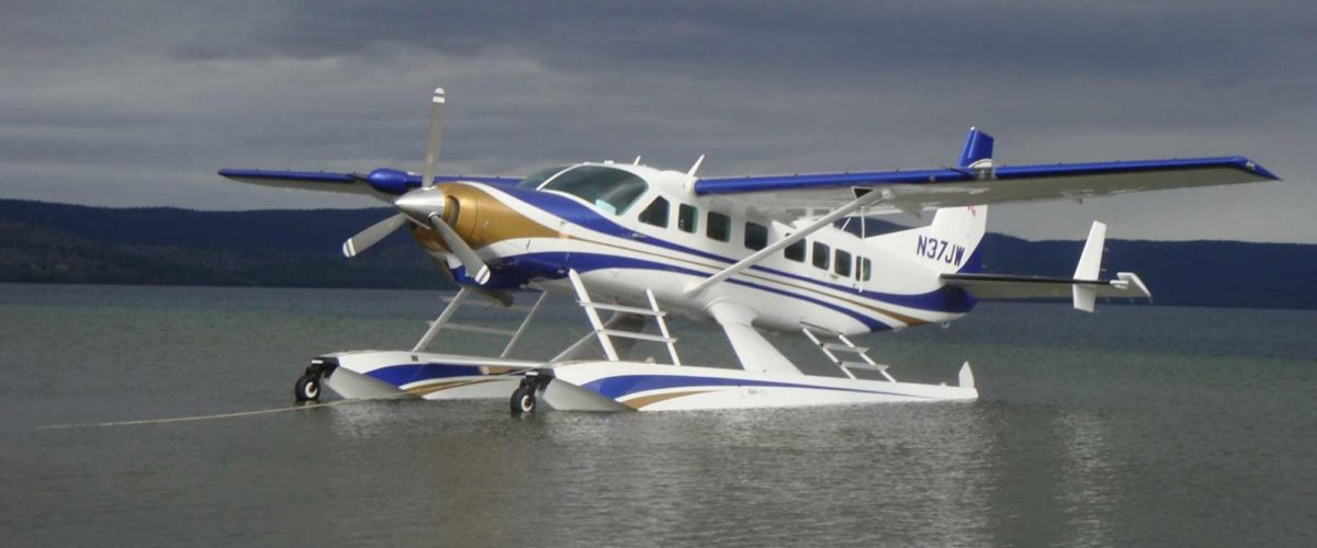 Cessna Grand Caravan on Wipline 8750 Floats at Rest